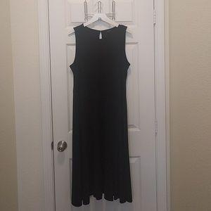 Ann Taylir Black tea-length dress